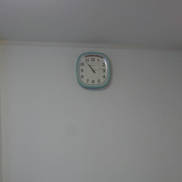 棚や時計の取付完成