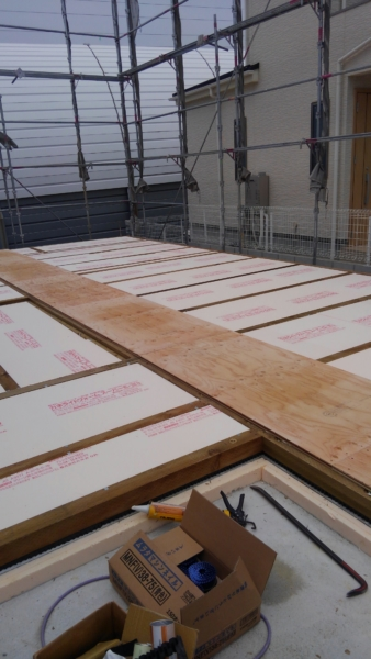 2×4フレーミング工事 床