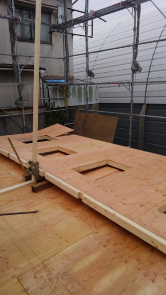 2×4フレーミング工事 壁