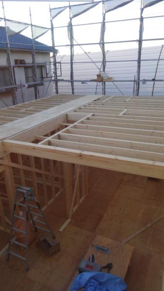 2×4フレーミング工事 2階床