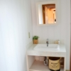 パールタイルの造作洗面台