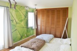 森がテーマの寝室