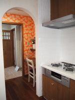 キッチン奥にはパントリー&家事室