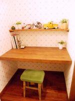 家事室。背面には2帖のパントリーが