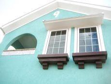 ミント色のお家
