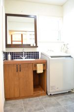オーダー鏡と造作洗面台