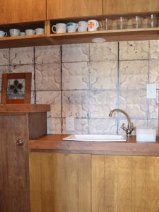 事務所の洗面は省スペースですっきりと