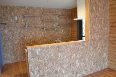 OSB合板のキッチン壁リフォーム