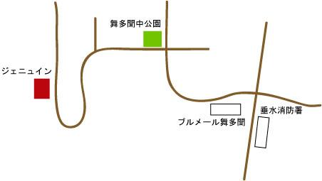 ジェニュイン地図