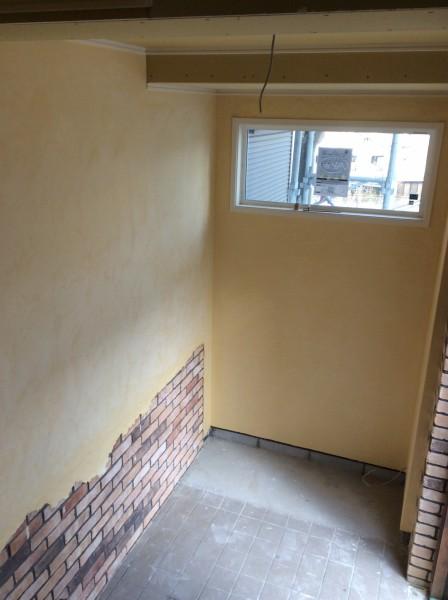 玄関内装リフォーム 漆喰塗り
