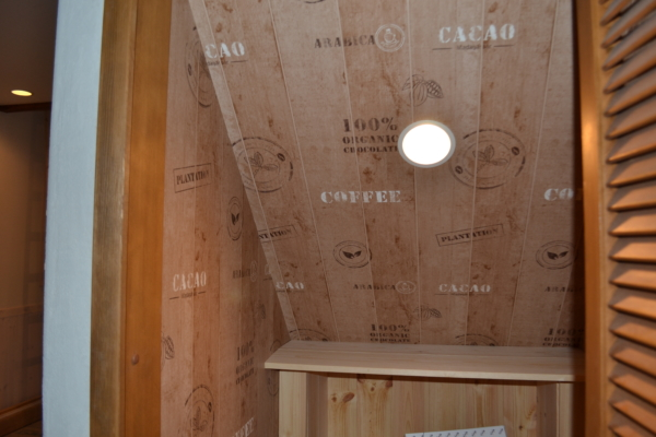 コーヒー柄の壁紙