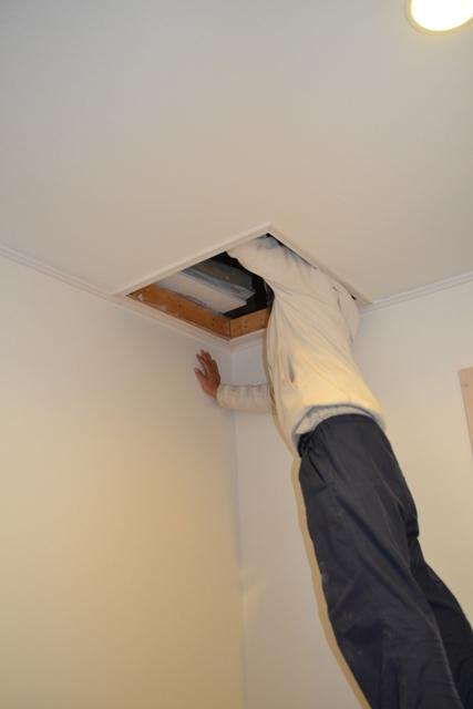 新築工事後天井点検