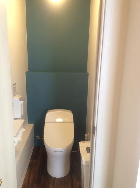 トイレ リノベーション ブルー ナチュラル