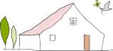 ジェニュインの建てる可愛いお家のイラスト