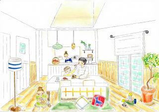 ジェニュインの可愛い家の絵