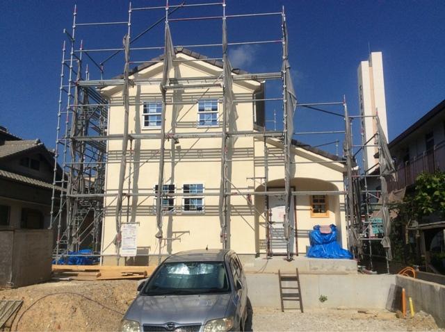 新築外観 塗り壁 センス ナチュラル