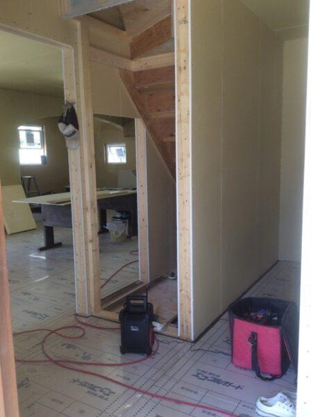 階段下 収納 新築工事