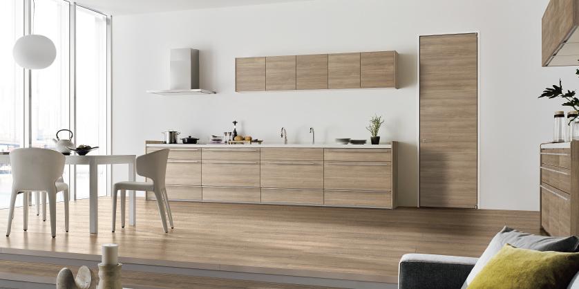 壁付けI型キッチンリフォーム例
