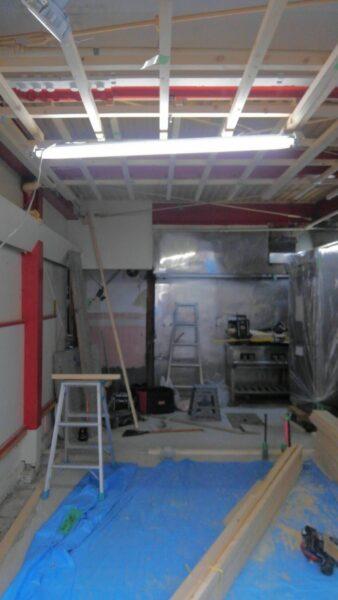 店舗リフォーム天井