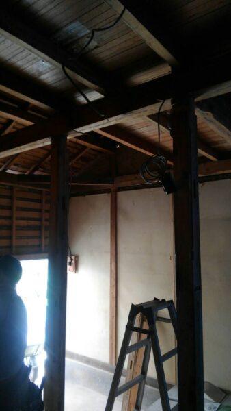 木造住宅壁撤去