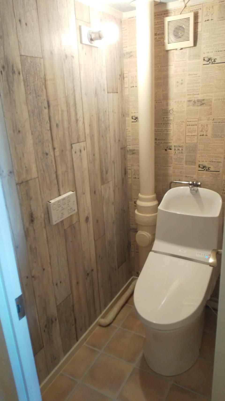 壁紙で変わる!トイレ空間