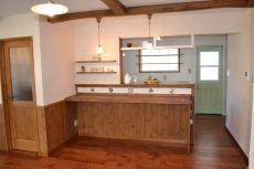 対面式のキッチンカウンター