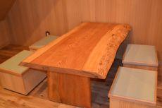 和の雰囲気漂う 造作テーブル&椅子