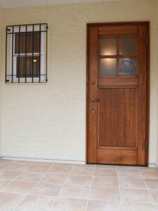 国産木製建具玄関
