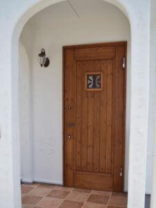 国産木製玄関扉