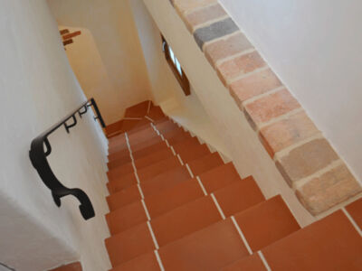 階段床テラコッタタイル