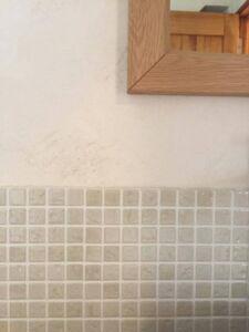 タイル 洗面所壁 グレー モザイクタイル 神戸