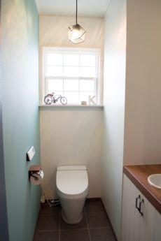 トイレ ブルー かっこいい ナチュラル