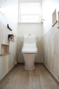 トイレ 腰壁風 ナチュラル 神戸 工務店