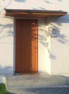 玄関扉 新築 シンプル 木製 神戸