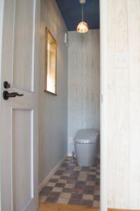 トイレ ナチュラル ブルー 新築
