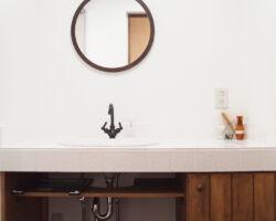 シンプルかわいい造作洗面台